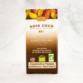 Horká čokoláda 63% kakaa s kokosom Bio 100g