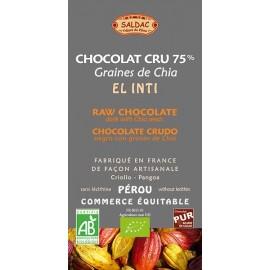 Horká čokoláda 75% Chia semienka 10%