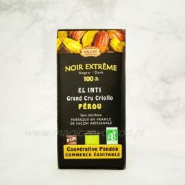 Horká čokoláda EL INTI Extrémna 100% s Criollo kakaom Bio 100g