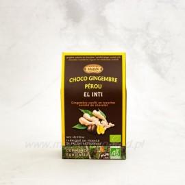 Kandizovaný zázvor v horkej čokoláde s 63% Bio 15 ks